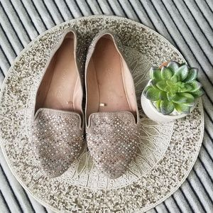 Ballet Boutique Full Jeweled Flat Loafers Size 7